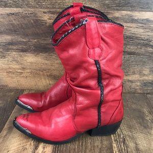 Vintage red Capezio cowboy (cowgirl) boots 7M